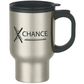 Stainless Steel Travel Mug with Sip-thru Lid (16 Oz.)