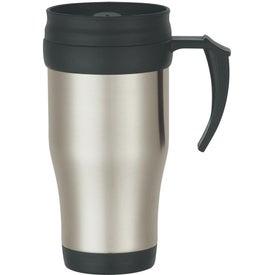 Monogrammed Stainless Steel Travel Mug with Slide Lid