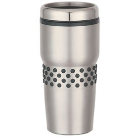 Customized Stainless Steel Tumbler with Dotted Rubber Grip