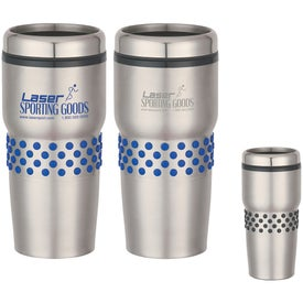 Stainless Steel Tumbler with Dotted Rubber Grip (16 Oz.)