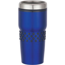 Promotional Stainless Steel Tumbler with Dotted Rubber Grip
