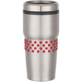 Personalized Stainless Steel Tumbler with Dotted Rubber Grip