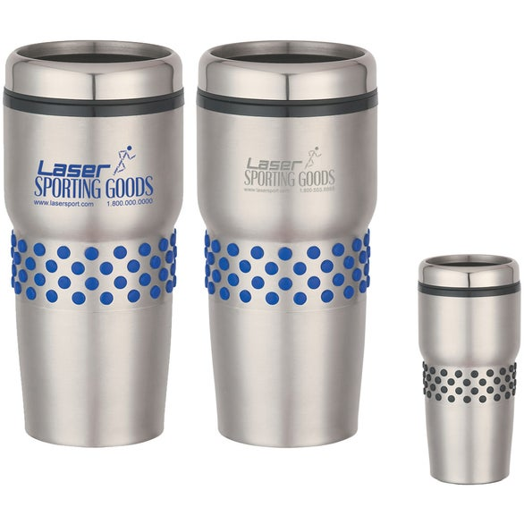 Stainless Steel Tumbler with Dotted Rubber Grip