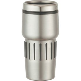 Monogrammed Stainless Steel Tumbler With Rubber Grips