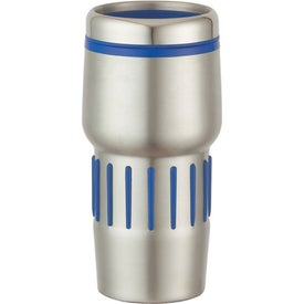 Imprinted Stainless Steel Tumbler With Rubber Grips