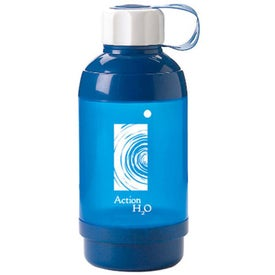 Straight Water Bottle with Pill Box