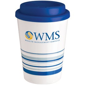 Striped Coffee Cup Tumbler with Your Slogan