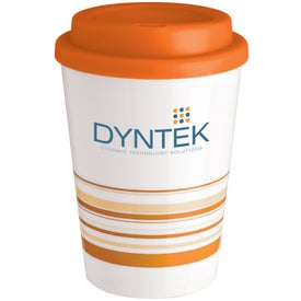 Advertising Striped Coffee Cup Tumbler