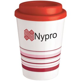 Printed Striped Coffee Cup Tumbler