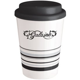 Striped Coffee Cup Tumbler (12 Oz.)