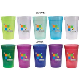 Monogrammed Sun Fun Color Changing Stadium Cup