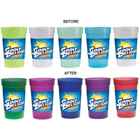 Imprinted Sun Fun Color Changing Stadium Cup