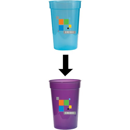 Light Blue to Violet Sun Fun Color Changing Cup
