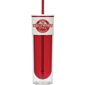 Logo The Chill Tumbler with Straw