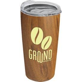 The Summit Woodtone Stainless Steel Vacuum Tumbler (18 Oz.)