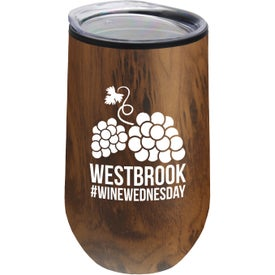 The Concord Stainless Steel Woodtone Tumbler (14 Oz.)