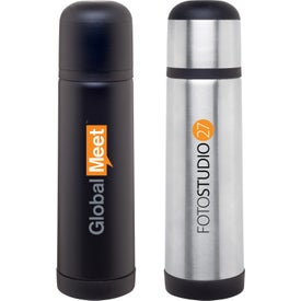 Thermal Bottle (16.5 Oz, Black and White)