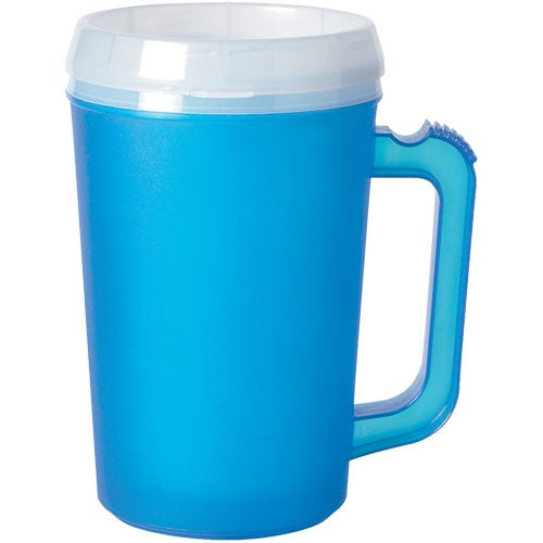 Frosted Ice Blue Thermo Insulated Mug