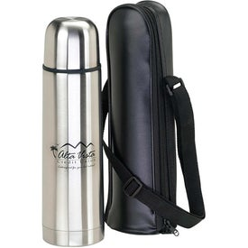 Thermos with Case Printed with Your Logo