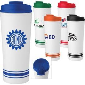 Monogrammed Tira Stripe Travel Mug