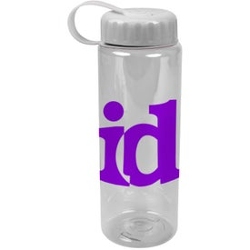 Personalized Translucent Bottle with Tethered Lid
