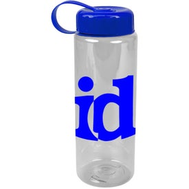 Translucent Bottle with Tethered Lid for Advertising