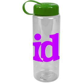 Translucent Bottle with Tethered Lid with Your Slogan