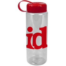Translucent Bottle with Tethered Lid for Marketing