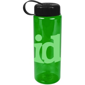 Imprinted Translucent Bottle with Tethered Lid