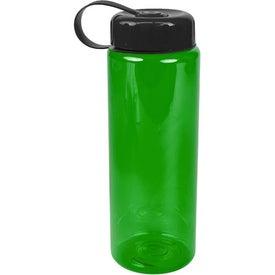 Monogrammed Translucent Bottle with Tethered Lid