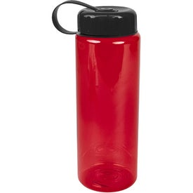 Promotional Translucent Bottle with Tethered Lid
