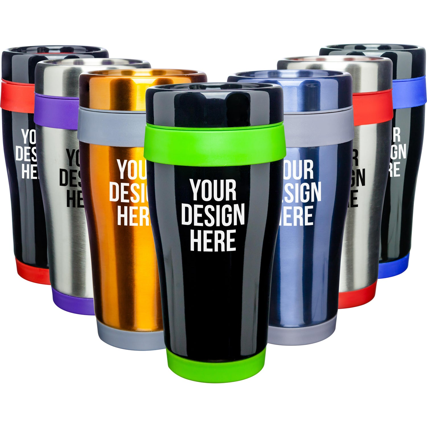 thermos travel mug promotional 16 oz stainless steel curvy tumblers with 13168