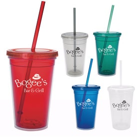 Double Wall Translucent Tumbler with Your Slogan