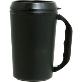 Imprinted Travel Mug with Drink Thru Lid