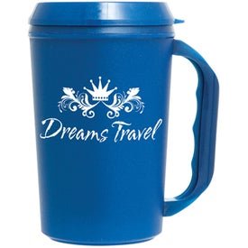 Travel Mug with Drink Thru Lid (22 Oz.)