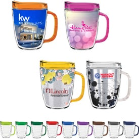 Tritan Coffee Mugs with Lid (12 Oz.)