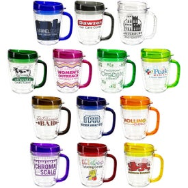 Tritan Mug with Translucent Handle and Lid (12 Oz.)
