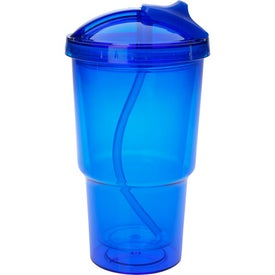 Double Wall Travel Tumbler With Straw Giveaways