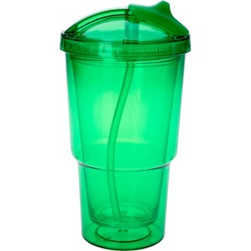 Double Wall Travel Tumbler With Straw for Your Organization