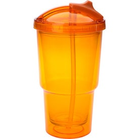 Double Wall Travel Tumbler With Straw for your School