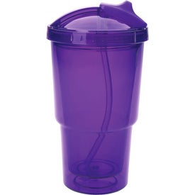 Double Wall Travel Tumbler With Straw for Marketing