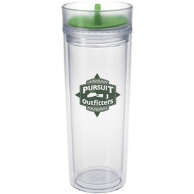 Tumbler with Color Twist Lid Printed with Your Logo