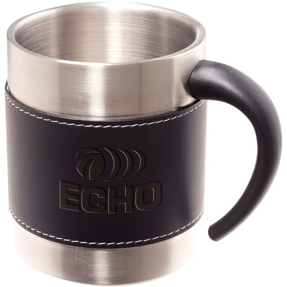 Black / Silver Tuscany Coffee Cup