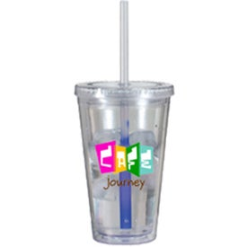 Promotional Victory Acrylic Tumbler with Mood Straw