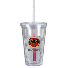 Victory Acrylic Tumbler with Mood Straw for Your Church