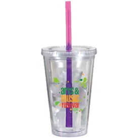 Personalized Victory Acrylic Tumbler with Mood Straw