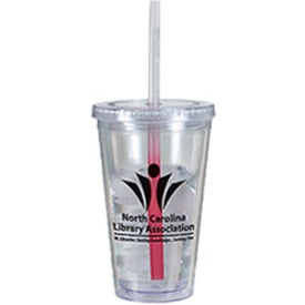 Victory Acrylic Tumbler with Mood Straw for Customization