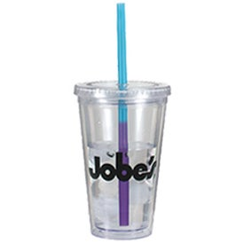 Victory Acrylic Tumbler with Mood Straw for Advertising