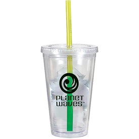 Victory Acrylic Tumbler with Mood Straw Imprinted with Your Logo
