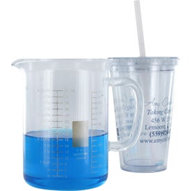Imprinted Victory Acrylic Tumbler with Mood Straw